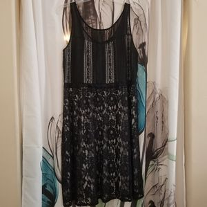Lane Bryant Black Lace Midi Dress Size 16